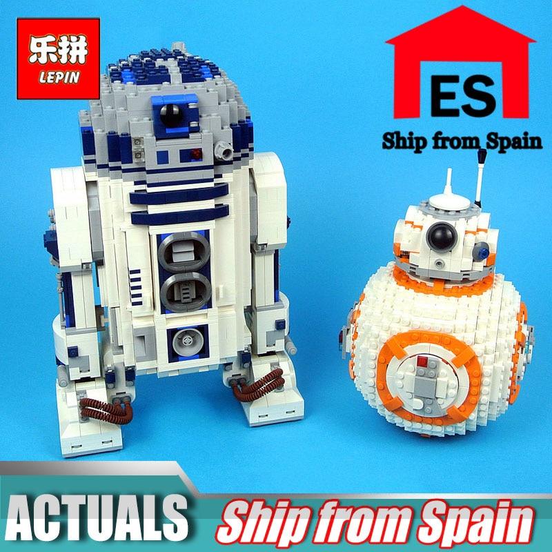 Лепин войны на Star 05043 UCS R2 комплект D2 Лепин 05128 BB 8 Набор роботов Совместимость Legoinglys 75187 10225 строительные блоки игрушки для мальчиков