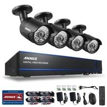 ANNKE 4CH 1080P Surveillance AHD DVR Kits 4PCS 2.0MP 3000TVL IR Night Vision Waterproof Security Camera Video CCTV System