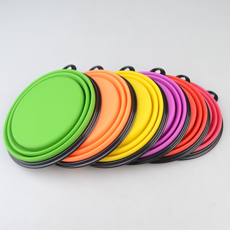 Freeshipping Foldable Dog Feeding Bowl Collapsible Big Volume Silicone Dog Travel Bowl Dog Cat Travel Bowl Water Dish 1000ML (3)