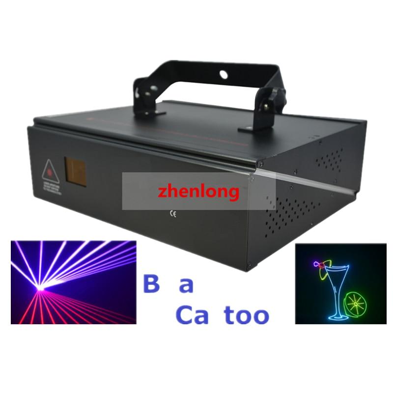 цена DMX+ILDA+2D Multi Color 1W RGB Beam Animation Laser Light / DJ Lights / Stage Lighting / Laser projector Disco Effect Machine онлайн в 2017 году