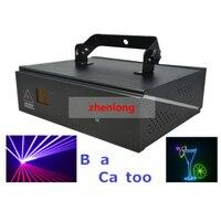 DMX ILDA 2D Multi Color 1W RGB Beam Animation Laser Light DJ Lights Stage Lighting Laser