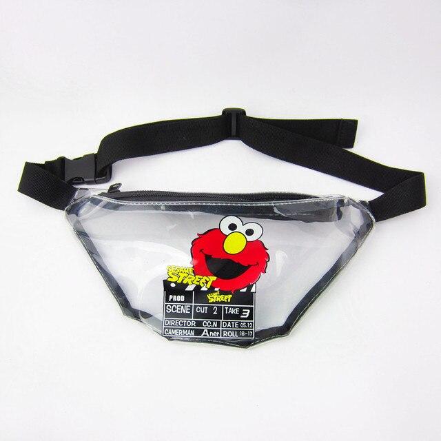 US $16 0 | Sesame Street Transparent Pvc Fanny Pack Waist Bag Bananka  Waterproof Antitheft Men Women Walking Mountaineering Belly Band -in Waist  Packs