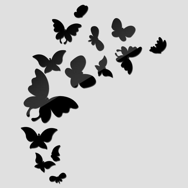 2017 new wall sticker acrylic 3d stickers home decor butterfly