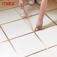 Itnex 50 メートルを設定します壁シールテープ防水ギャップシールテープストリップ粘着床タイルの家の装飾