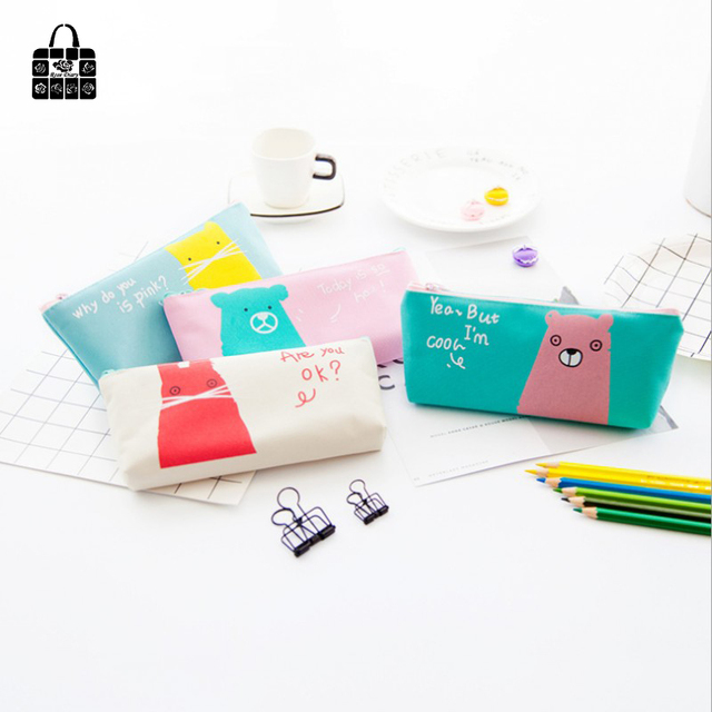 Women Portable Lovely animals canvas Multifunction Beauty Zipper Travel  Cosmetic Bag Makeup Case Toiletry Pouch Pen Purse bags b4b633a3ae