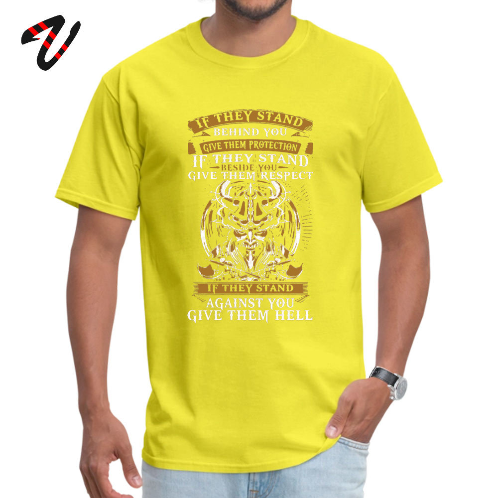 Unique Tops & Tees Oversized Short Sleeve Mens Tshirts TpicOriginaltitle Europe Summer/Autumn Tops Tees O Neck stand behind you -1362 yellow
