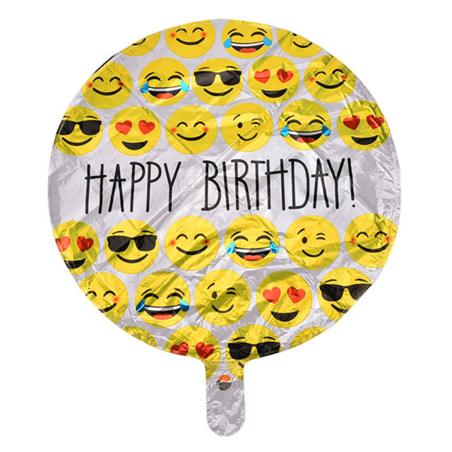 New 1 PCS Happy 45cm X Balloon Birthday Expression Balloons Emoji Foil Ballon For Party Decoration