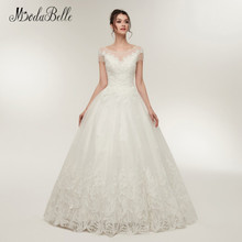modabelle Vintage Lace Wedding Dress Tulle Short Sleeve