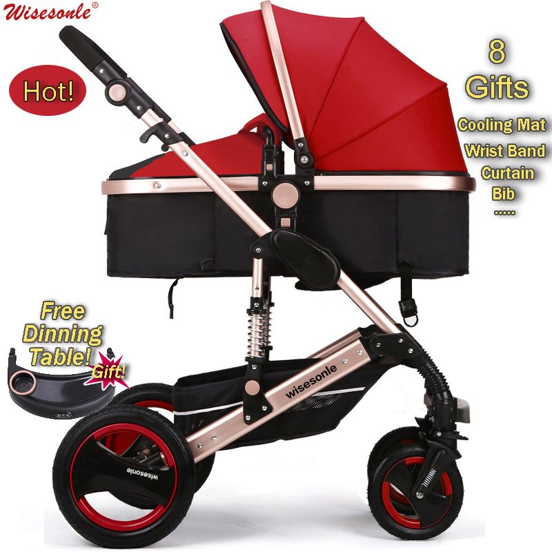 Luxury Baby Stroller  High-Landscape Pram Portable Folding  baby Carriage for Newborn Sit  and Lie Stroller Aluminum Tube luxury baby stroller high landscape baby carriage for newborn infant sit and lie four wheels