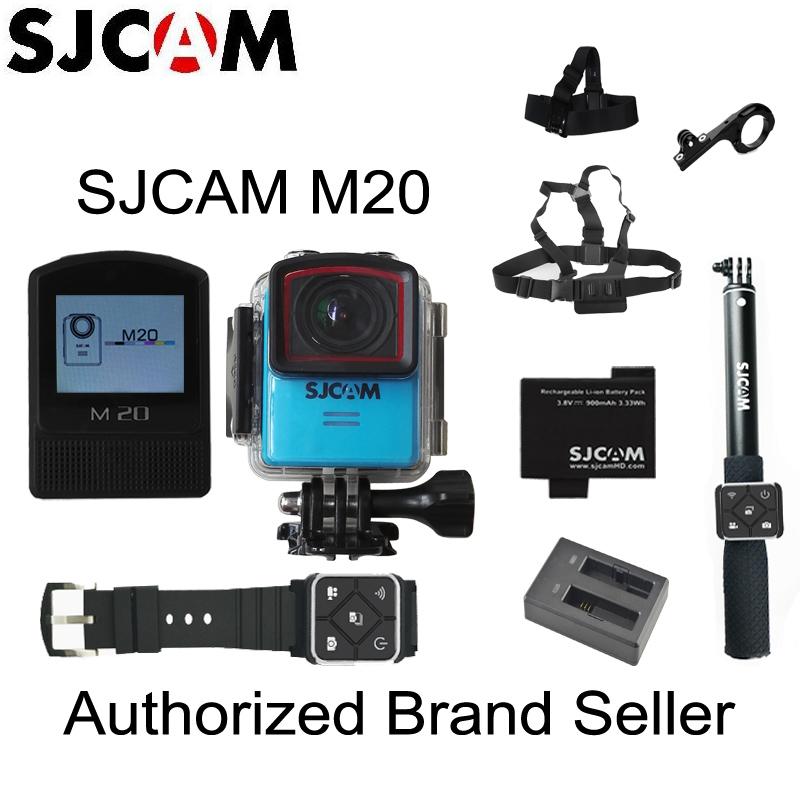 Prix pour D'origine SJCAM M20 Gyro Mini Action Casque Sport DV Caméra 30 M Étanche 4 K 24fps 2 K 30fps NTK96660 16MP Avec BRUT Format