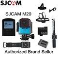 Original sjcam m20 gyro mini ação capacete câmera dv esportes 30 M À Prova D' Água 4 K 24fps 2 K 30fps NTK96660 16MP Com RAW formato