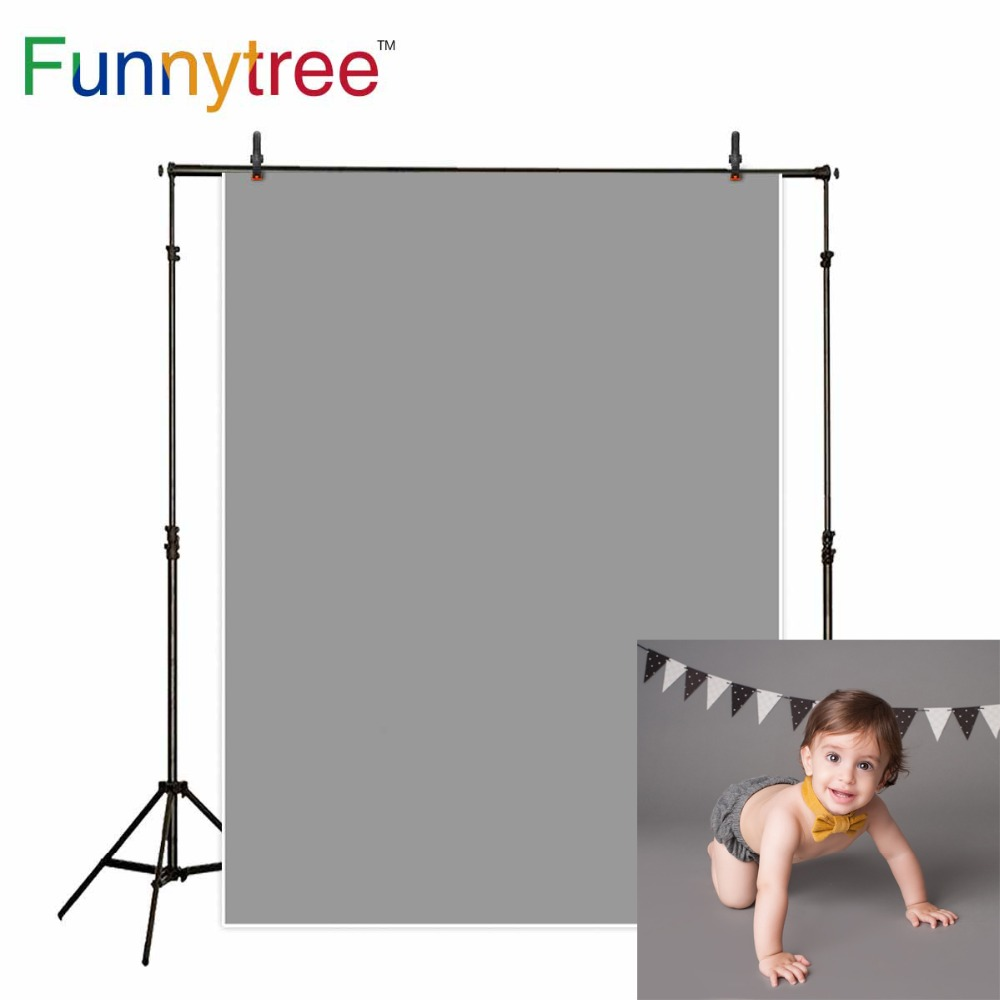 Funnytree photography backdrops light gray Solid color baby birthday newborn fond studio photo background photophone wall-paper