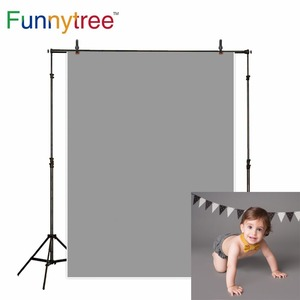 Image 1 - Funnytree photography backdrops light gray Solid color baby birthday newborn fond studio photo background photophone wall paper