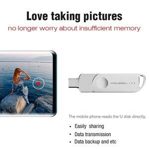 Image 4 - Moweek MF93 USB C فلاش حملة 128 جيجابايت 64 جيجابايت نوع C محرك فلاش USB 32 جيجابايت 16 جيجابايت 8 جيجابايت OTG USB عصا عالية السرعة cle USB 3.0 القلم محرك