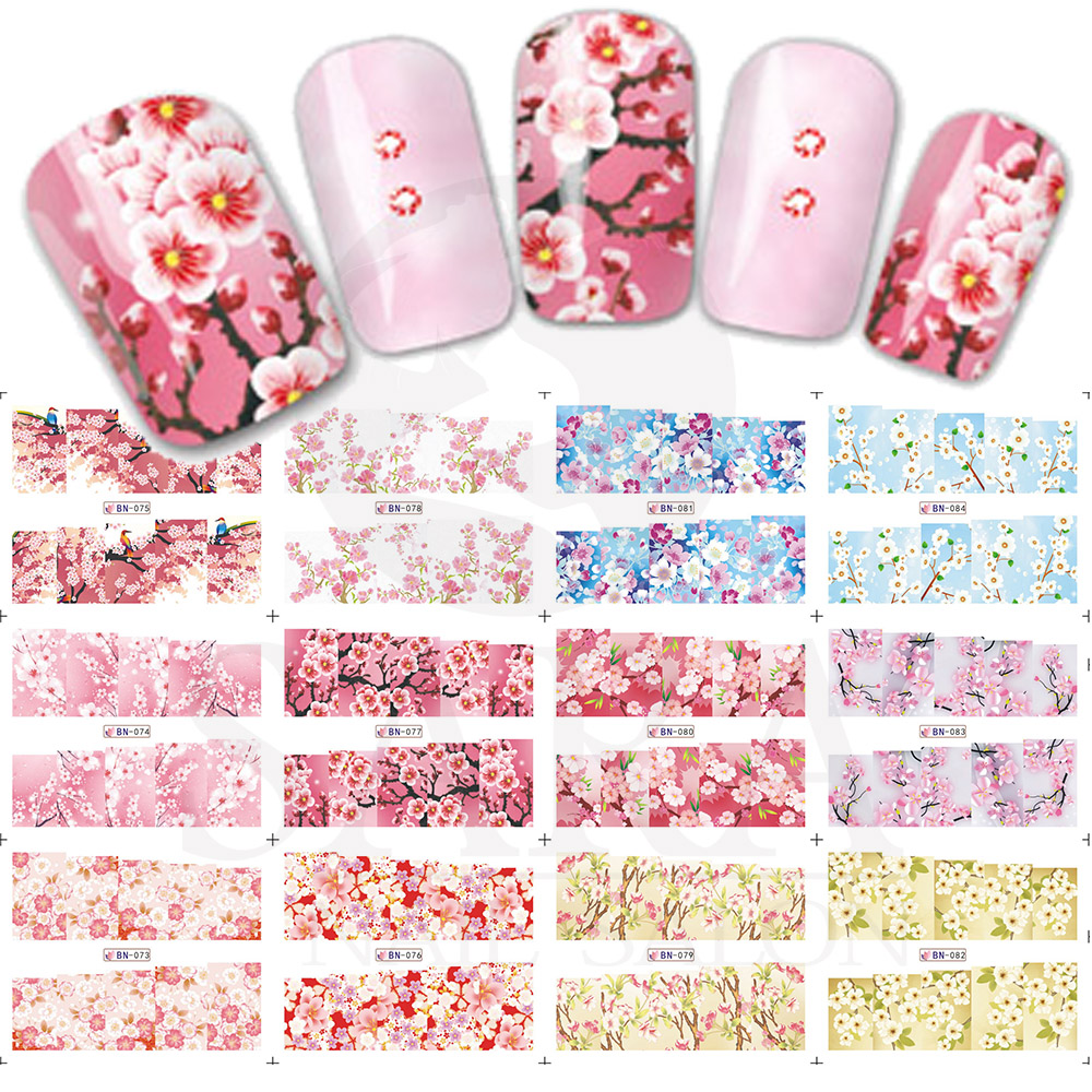 12Designs/set Full Cover Warp Colorful Flower Style Nail Art Water Transfer Sticker For Nail Art Decoration SABN073-084 silver s edit teenage mutant ninja turtles rise of the turtles level 1 cd