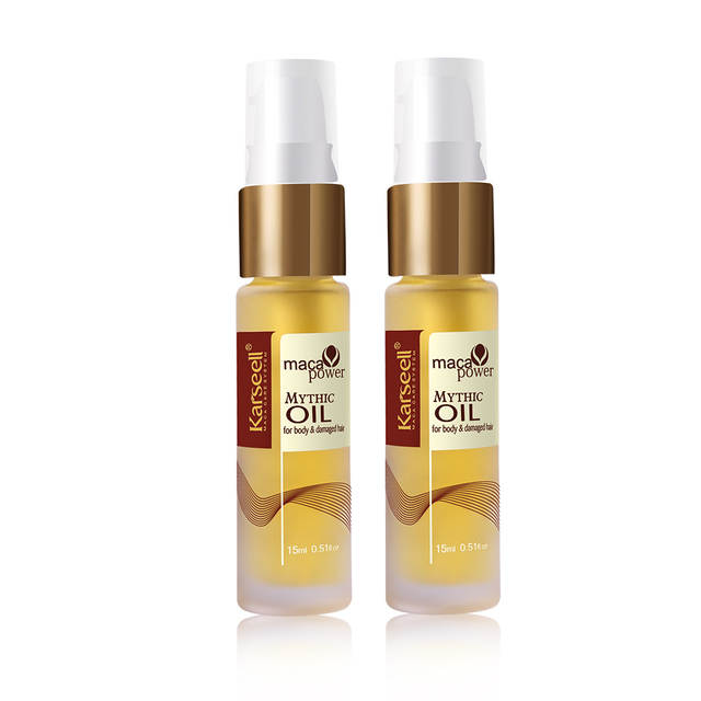 Hair Oil Moroccan Argan Oil Karseell Maca Essence Oil Keratin Straighten  Hair Treatment Split Ends Scalp Sensual Elixir 15mlX2