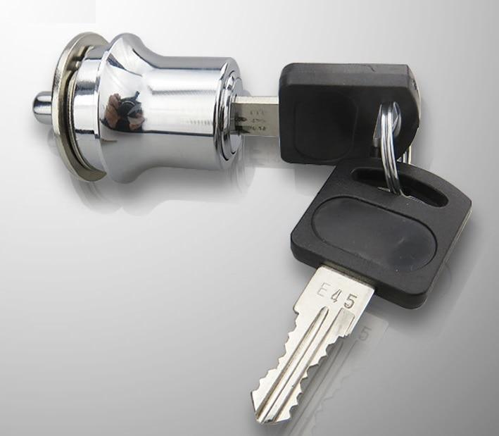 4PCS/LOT Premintehdw 3-5mm Glass Display Cabinet Showcase Sliding Glass door lock Latch with 2 Keys Wine Cabinet