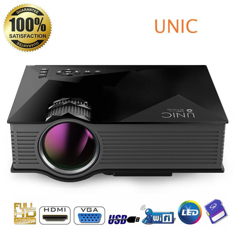 UNIC UN46 font b Projector b font Mini LED font b Projectors b font Multimedia home
