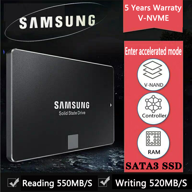 SAMSUNG SSD 500GB 250GB 1TB 2TB 4TB 860 EVO SATAIII for Laptop Desktop