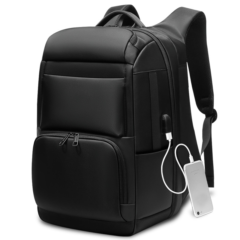 "Men Travel Backpack Large Capacity Teenager Male Mochila Back Anti thief Bag USB Charging 17.3"" Laptop Backpack Waterproof-in Backpacks from Luggage & Bags    1"
