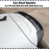 Rear Roof Spoiler Wing Lip For VW Golf 6 MK6 VI GTI & R20 Carbon Fiber 2010 2013 OSIR Style rear trunk wing (Only fit GTI R20)