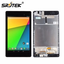 Srjtek For Asus Google Nexus 7 2nd Gen 2013 ME571K ME571 K008 LCD Display Digitizer Touch Screen Assembly With Frame 3G/WIFI