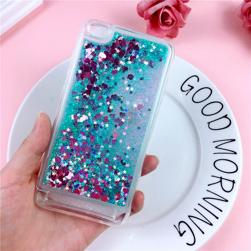 Liquid Case on sFor Xiaomi Redmi 6A Case for Coque Xiomi Xiaomi Redmi 6 6A 5A 4A 4X 7A Cases Glitter Silicone Soft Cover Etui
