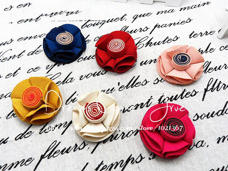 ᗗ20 unids/lote 2 6 colores Telas flores con Lollipop para niños ...