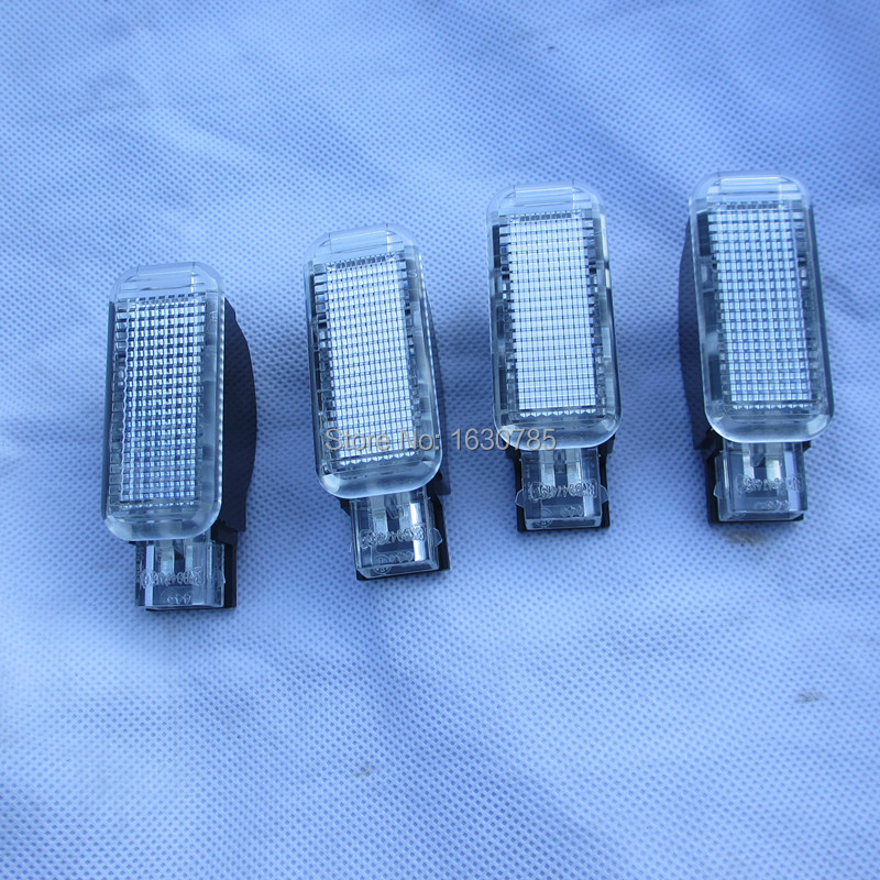 4Pcs White Door Warning Light DOORS LIGHTS interior LAMP For AUDI A3 A4 A5 A6 A7 A8 Q3 Q5