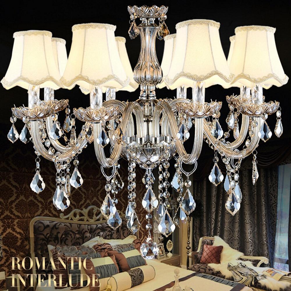 Tomda Modern Crystal Chandelier Luxury Bedroom Chandelier