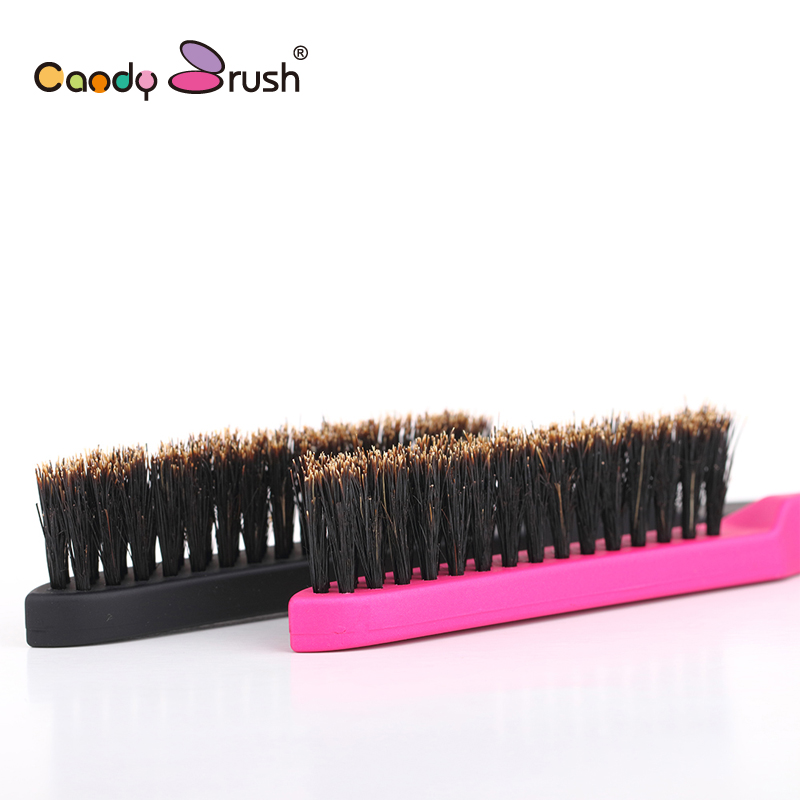 High Quality Plastic Handle Natural Boar Bristle Hair Brush Fluffy Comb Hairdressing Barber Tool