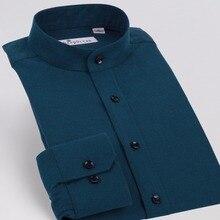 Демисезонный Для мужчин рубашка Мода хлопок тонкий Рубашки для мальчиков Бизнес Рубашки домашние муж. человек верхняя одежда с длинным рукавом плюс Размеры Для мужчин рубашка