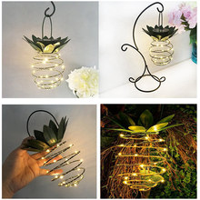 LED Solar Light DC2V 0.08W Pineapple Solar Powered Energy Hanging Fairy Light Outdoor Lamp 2 Pack Outdoor Solar Light Waterproof(China)