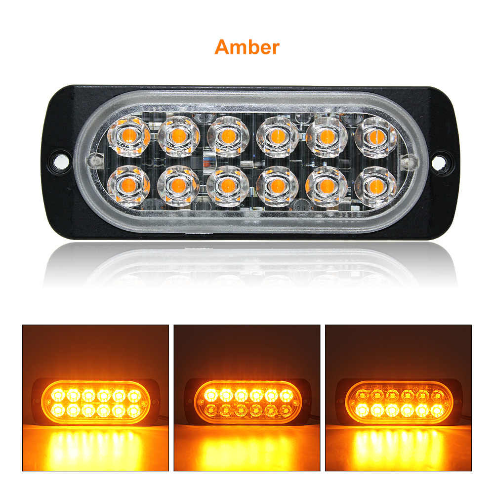 1pc ANBLUB 12V 24V Truck Side Marker Strobe Warning Light Ultra Thin 12 LEDs Car Truck Lorry Trailer DRL Light Signal Lamp