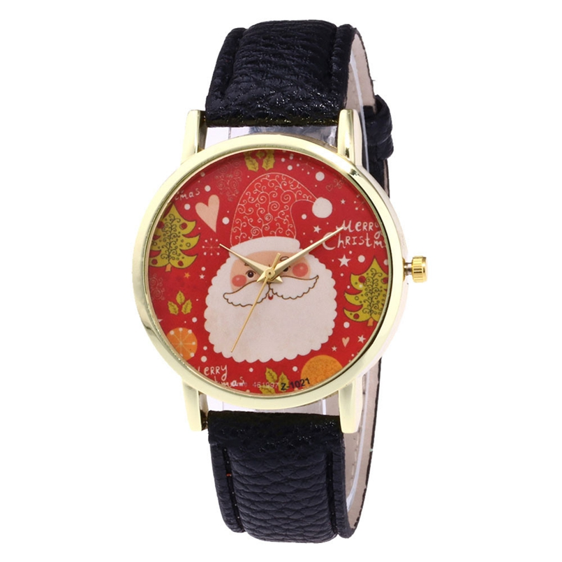 New Arrive Watch Women Leather Analog Display Women Dress Watch Christmas Quartz Watch Women Wristwatch relogio feminino s12