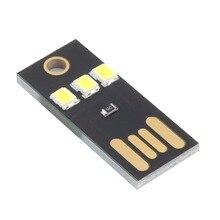 Venta caliente Mini USB Power LED luz ultra baja potencia 2835 chips Pocket Portable de La Noche de la lámpara de la tarjeta supervivencia al aire libre herramientas