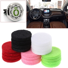 Hot New 20pcs 22mm Auto Car Aromatherapy Essential Oil Diffusion Perfume Refill Replace Pads Interior Accessories