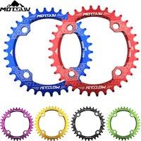 Велосипедная рукоятка 104BCD круглая форма узкая широкая 32 T/34 T/36 T/38 T сеть MTB кольцо велосипедная Звездочка велосипед круг коленчатый набор одн...