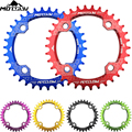 Bicycle Crank 104BCD Round Shape Narrow Wide 32T/34T/36T/38T MTB Chain ring Bicycle Chainwheel Bike Circle Crankset Single Plate