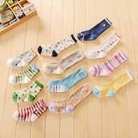 3pcs Korean Cartoon Cotton Newborn Toddler Tube Knee Socks Kids Sock For Children New Born Baby