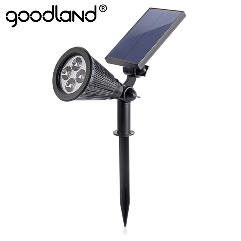 Goodland LED Solar Light Waterproof Garden Lights Outdoor Path Lamp Light Sensor Powered Landscape Yard Lawn Light Solar Lamp