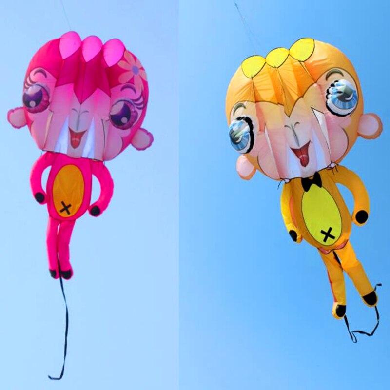 2017 nouveau design livraison gratuite de haute qualité 5.4m grand 3D singe doux cerf-volant ripstop nylon kitesurf extérieur volant pieuvre cerf-volant bar