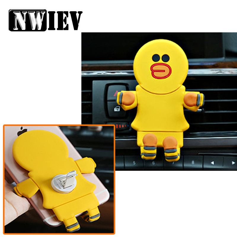 NWIEV Car-styling Cartoon Foldable Phone holder For Volkswagen VW Golf 4 <font><b>5</b></font> 7 6 MK4 Honda Civic 2006-2011 Accord 2003 Accessories image