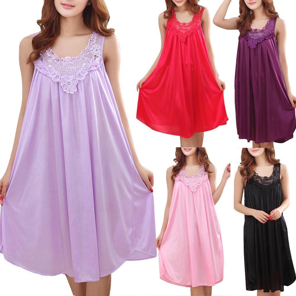 Women's Sexy Lace Strap Nightdress Lingerie Sleepwear Female Sling Dress Robe De Chambreо Lingerie Feminina дежда женская
