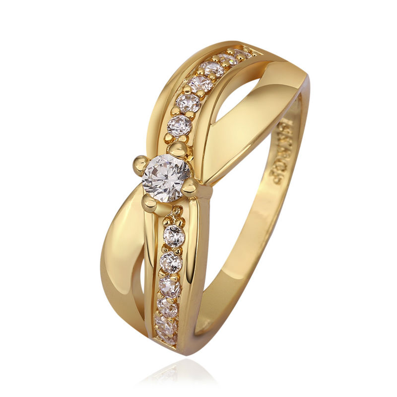 2017 Women Wedding Ring Set Designer Rings Gold Color Band Italina