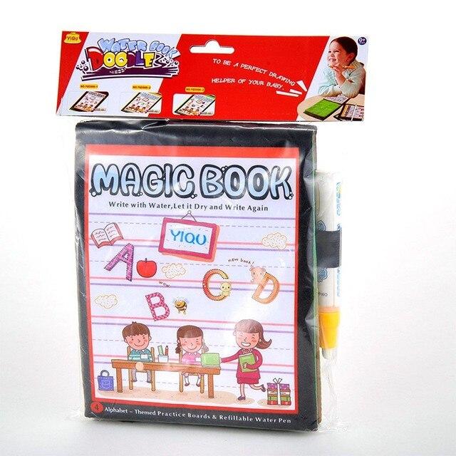 Education Magic Kids Water Drawing Book + 1 Magic Pen / Children ...