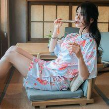 Японский Стиль Кимоно Пижамы 2017 Летние Новых Мужчин С Коротким Рукавом Шорты Комплект Мода Милый Фокс Печати Пижамы Наборы
