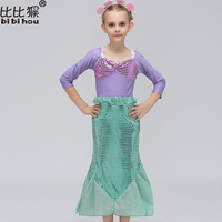 Baby Rose Flower Girl Dresses Kids Bow With Necklace Wedding Party Dress Girls Mermaid Sleeveless Princess