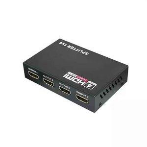 Image 1 - HDMI видео сплиттер 1/4 выход 3D 1080p 5,1 Гбит/с 1X4 4 портовый полный цифровой Konverter поставка высокое разрешение