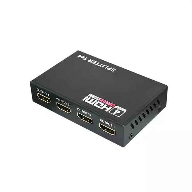 HDMI видео сплиттер 1/4 выход 3D 1080p 5,1 Гбит/с 1X4 4 портовый полный цифровой Konverter поставка высокое разрешение